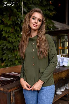 Чудная блуза с воротником, фото 2