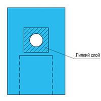 Накидка офтальмологическая 100х80см с липким слоем, карманом и отверстием d=7 см (СМС), стерильно