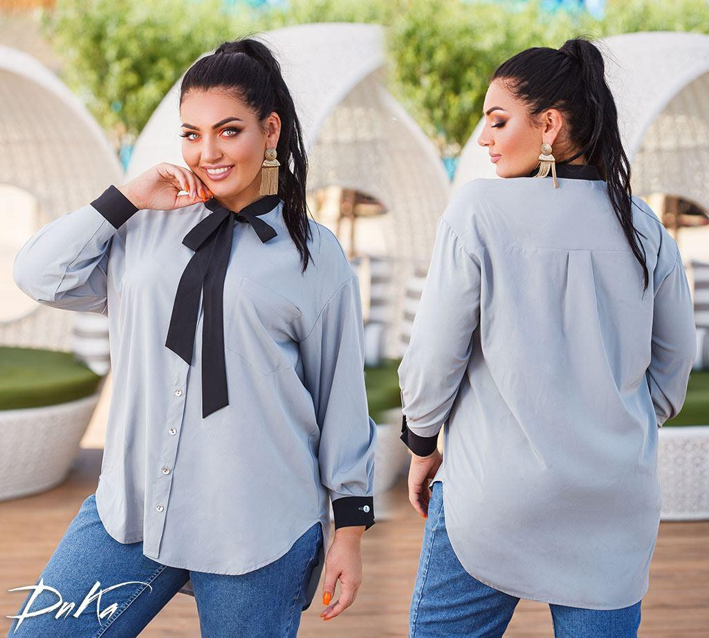 Женская модная рубашка  ДГд41350 (бат)