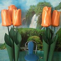 Тюльпаны на стойке. Большие ростовые цветы из изолона.