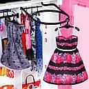 Кукла Барби и модный шкаф гардероб розовый с одеждой и обувью Barbie Fashionistas, фото 7