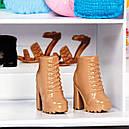 Кукла Барби и модный шкаф гардероб розовый с одеждой и обувью Barbie Fashionistas, фото 9