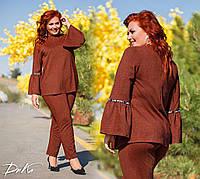 Женский стильный костюм  ДГак0479 (бат), фото 1