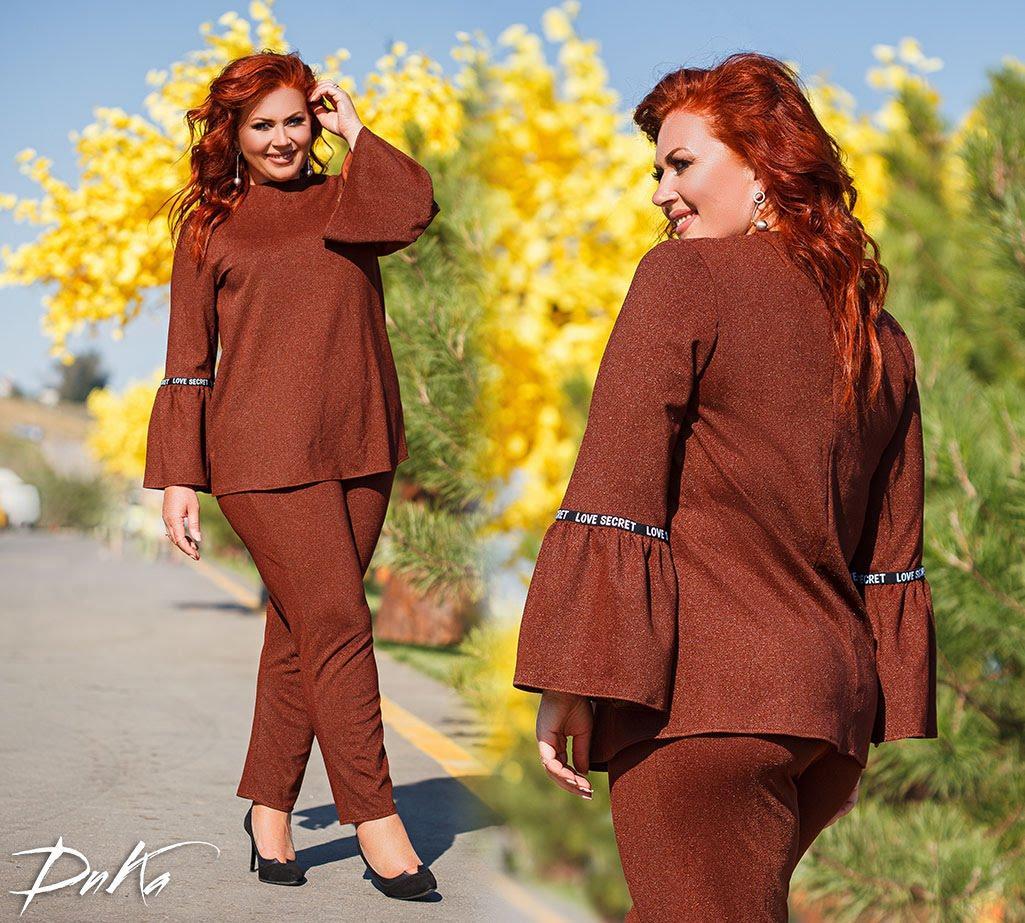 Женский стильный костюм  ДГак0479 (бат)