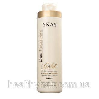 Кератин для выпрямления волос Ykas gold 300 мл Разлив