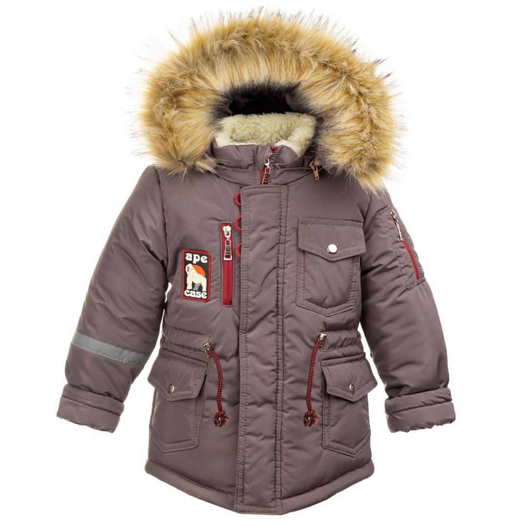 Куртка зимняя для мальчиков (т.беж)