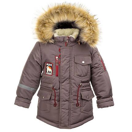 Куртка зимняя для мальчиков (т.беж), фото 2