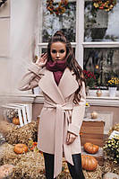Модное осеннее кашемировое пальто на подкладке