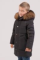 Детская зимняя куртка для мальчика коричневая  DT-8279-29, фото 1