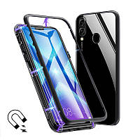 Магнитный чехол Full Glass 360 (Magnetic case) для Huawei Honor 8X
