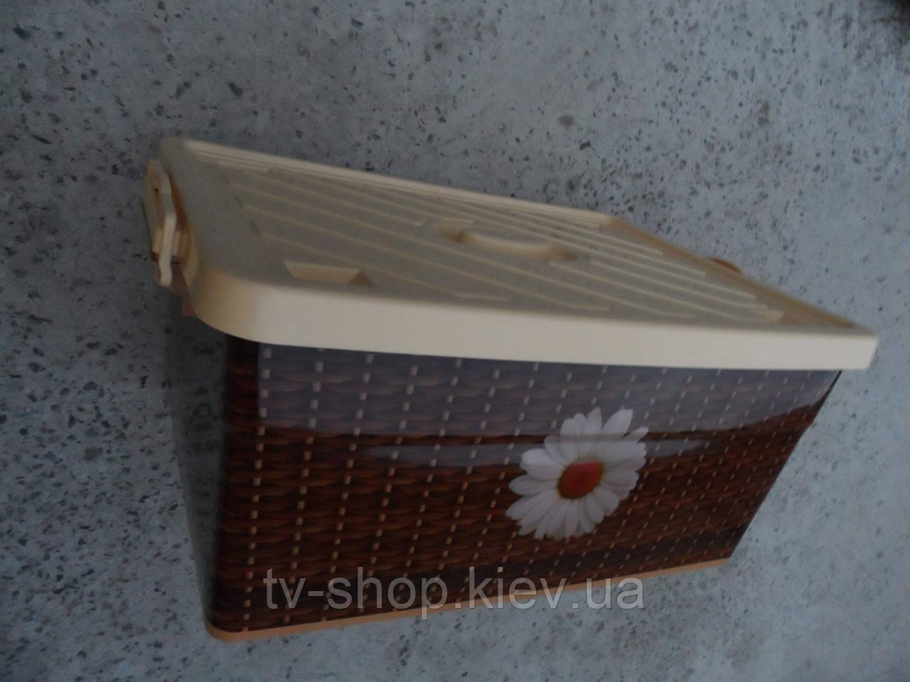 Ящик для игрушек\белья на колесах Плетенка,40 л