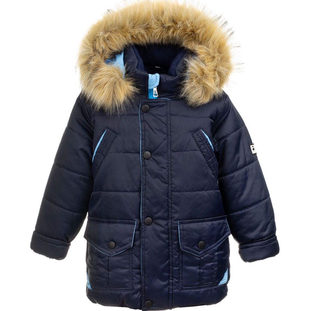 Куртка зимняя для мальчиков (т.синий)