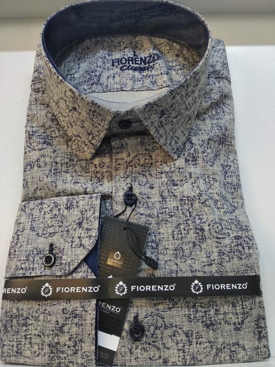 Стрейчевая рубашка Fiorenzo с принтом