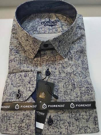 Стрейчевая рубашка Fiorenzo с принтом, фото 2