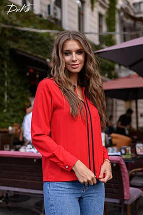 Симпатичная блуза с вставкой, фото 2