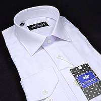 Сорочка чоловіча, прямого покрою з довгим рукавом Birindelli 512448 БІЛА 80% бавовна 20% поліестер M(Р)