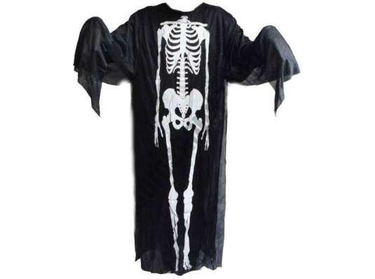Карнавальная Накидка Скелет 120 см
