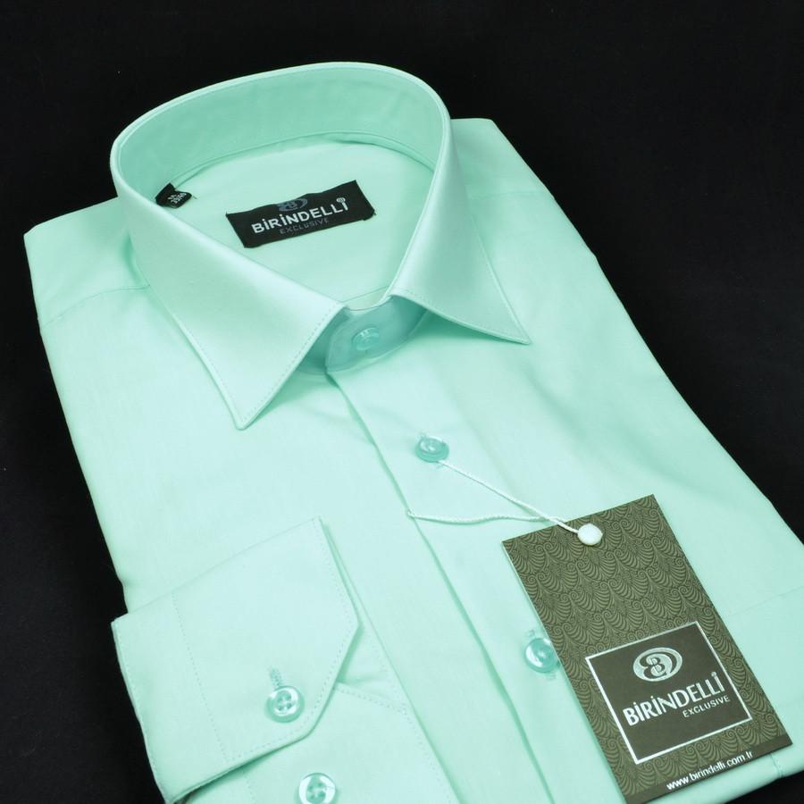 Сорочка чоловіча, прямого покрою з довгим рукавом Birindelli 512527 80% бавовна 20% поліестер L(Р)