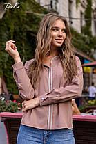 Современная блуза прямого кроя, фото 3