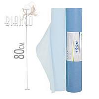 Простынь масло-водонепроницаемая для массажа Polix (30г/м²) в рулоне 0,8*50п.м (голубой)
