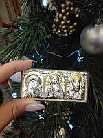 Ікона Казанська Богородиця Спаситель Святий Миколай, фото 1