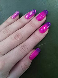 Термо-гель-лак фиолетовый с переходом в розовый City Nail 5 10мл арт.Термо5