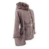 Куртка детская демисезонная для девочки Арина весна\осень 110,116,122,128см сумочка и поясок в комплекте