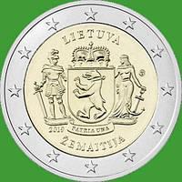 Литва 2 евро 2019 г. Жемайтия . UNC