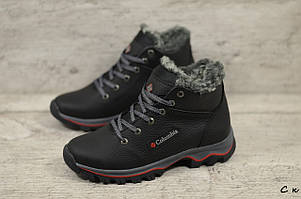 Детские кожаные зимние ботинки Columbia  (Реплика) (Код: C к  ) ►Размеры [35,36,37,38,39]
