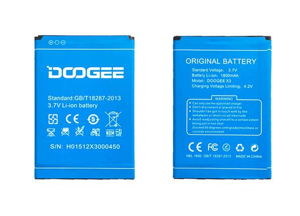 Аккумулятор для Doogee X3 (1800mAh) оригинал, фото 2