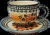 Чашка 0,32L с блюдцем Sunshiny