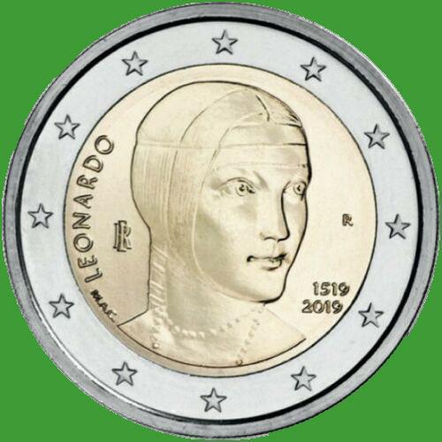 Італія 2 євро 2019 р. 500 років з дня смерті Леонардо да Вінчі . UNC