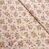 Сатин с букетиками роз на бежевом фоне, ширина 160 см