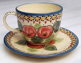 Чашка 0,32L с блюдцем Яблука наливні, фото 2