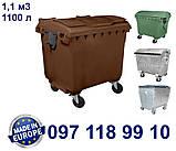 Пластиковый контейнер для мусора 1100 литров, фото 3