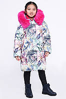 Куртка детская зима для девочки белая DT-8260-3