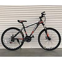"""Спортивный велосипед черно-оранжевый ТopRider 29"""" металлическая рама 19"""" рост 170 - 185см"""