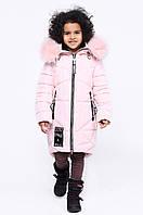 Детская зимняя куртка теплая для девочки розовая DT-8293-27