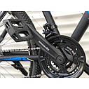 """Спортивный велосипед черный с синим ТopRider 29"""" металлическая рама 19"""" рост 170 - 185см, фото 4"""