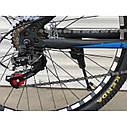 """Спортивный велосипед черный с синим ТopRider 29"""" металлическая рама 19"""" рост 170 - 185см, фото 6"""
