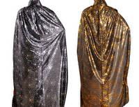 Плащ паутина золото, серебро  104 см
