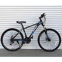 """Спортивный велосипед черно-синий ТopRider 29"""" металлическая рама 19"""" рост 170 - 185см"""