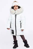 Детская зимняя куртка теплая для девочки белая DT-8293-6, фото 1
