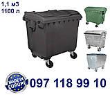 Пластиковый контейнер для мусора 1100 литров, фото 4