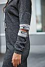 Платье женское спортивное, р. от 44 до 50, чёрное с люрексом, повседневное, молодёжное, городское, фото 2