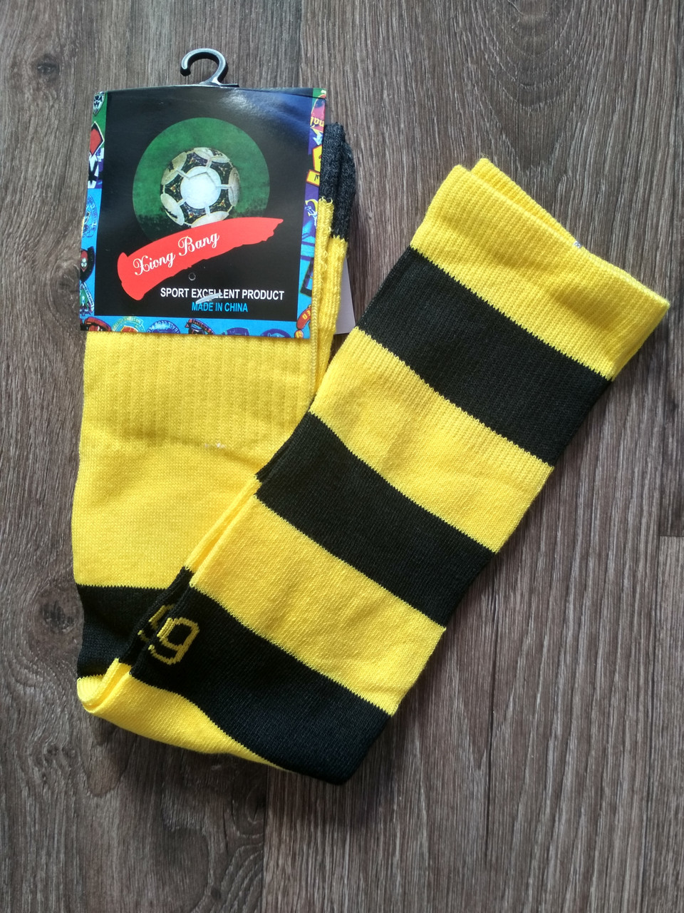 Футбольные гетры Бору́ссия До́ртмунд/Borussia Dortmund ( Германия, Бундеслига ), желтые, сезон 2019-2020