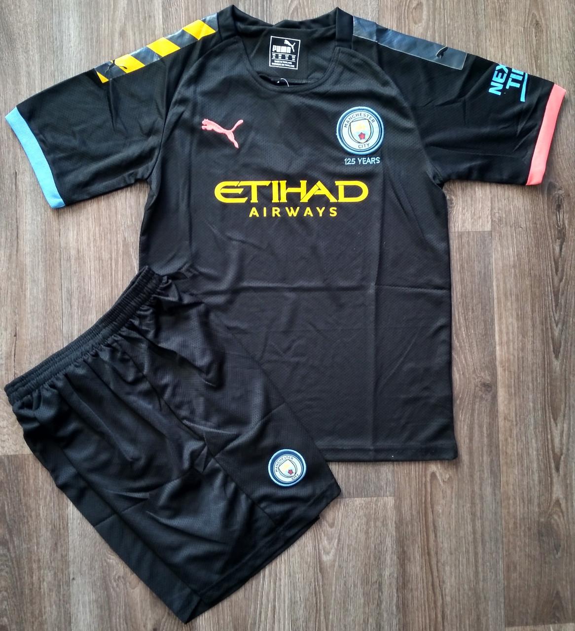 Детская футбольная форма Манчестер Сити/Manchester City ( Англия, Премьер Лига ), выездная, сезон 2019-2020