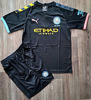 Детская футбольная форма Манчестер Сити/Manchester City ( Англия, Премьер Лига ), выездная, сезон 2019-2020, фото 1