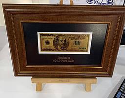 Панно подарункове Банкнота 100 USD HB - 077