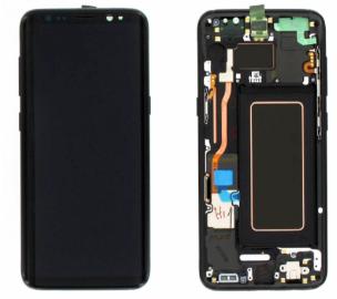 Дисплей (LCD) Samsung GH97-20470A G955F Galaxy S8 plus с сенсором чёрный с рамкой сервисный, фото 2